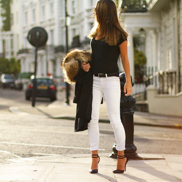 Fashion Friday White Jeans - Kinda Sorta Simple
