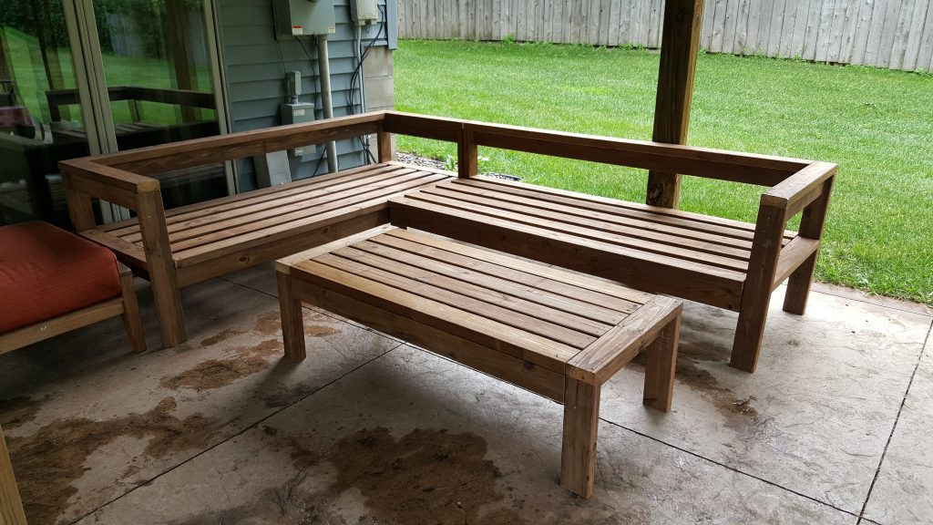 Diy Outdoor Sectional Couch Kinda