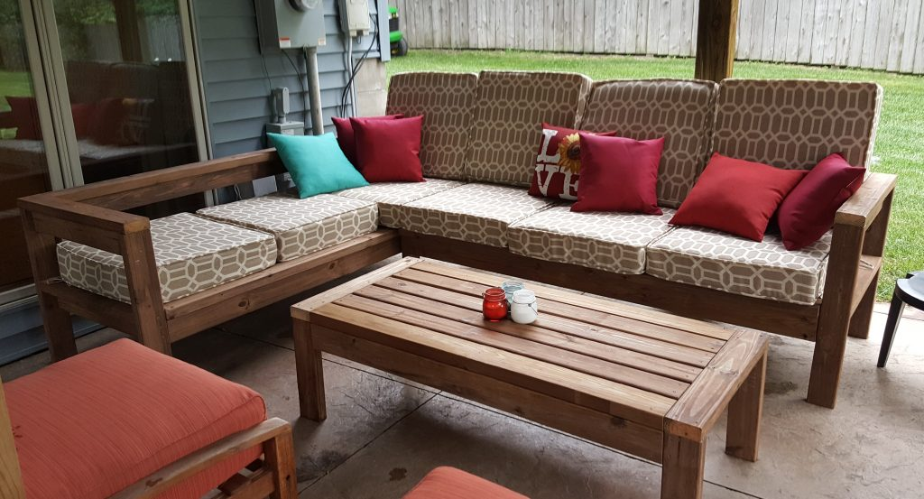 Diy Outdoor Sectional Couch Kinda, Build Patio Furniture Sectional
